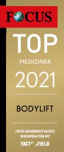 Siegel - Dr- Demir, Top-Mediziner 2021 - Bodylift - auf der Focus Gesundheit Artzsuche